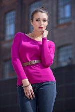 woman in pink