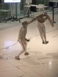 fencing practise
